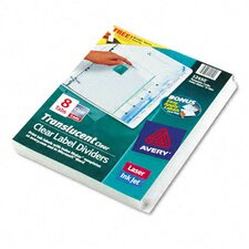 Index Maker Clear Label Punched Translucent Dividers