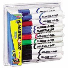 Marks-A-Lot Desk Style Dry Erase Markers, Chisel Tip,  24/Pack