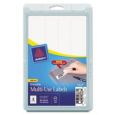 Erasable ID Labels, 80/Pack
