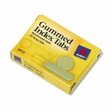 Gummed Index Tabs, 25/Pack