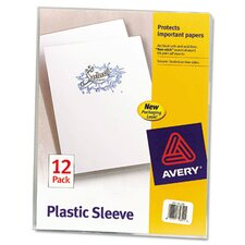 <strong>Avery</strong> Plastic Sleeves, 12/Pack