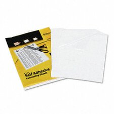 Clear Self-Adhesive Laminating Sheets