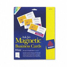 Avery Inkjet Magnetic Business Cards, 30/Pack