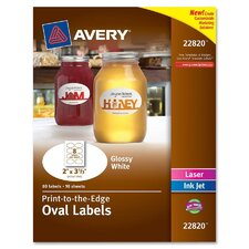 <strong>Avery</strong> Oval Labels