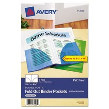 Fold-Out Binder Pocket (3 Pack)