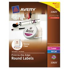 <strong>Avery</strong> Round Easy Peel Label (120 Pack)
