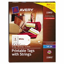 Blank Printer-Compatible Tag with String (96 Pack)