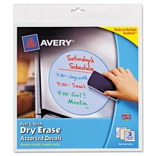 Peel and Stick Dry Erase Decal (3 Pack)