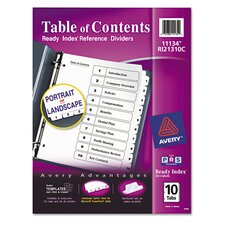 Ready Index Classic Tab Title (10 Pack)