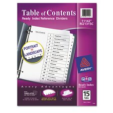 Ready Index Classic Tab Title (15 Pack)