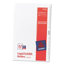 Legal Side Tab Divider (27 Pack)