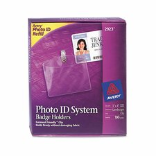 Photo ID System Badge Holders (100 Pack)