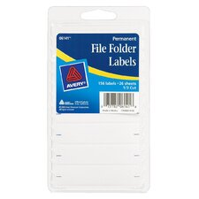 "2.75"" x 0.63"" File Folder Label  156 Count (Set of 6)"
