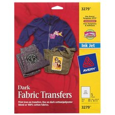 Ink Jet Iron On Dark T-Shirt Transfer 5 Count