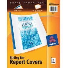 Sliding Bar Report Cover 3 Count