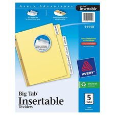 Insertable Divider 5 Count