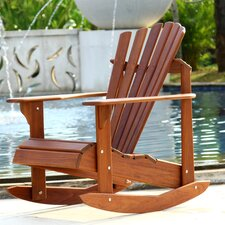 Signature Teak Adirondack Rocking Chair