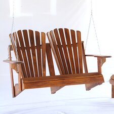 Signature Teak Adirondack Double Back Porch Swing
