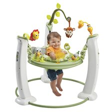 <strong>Evenflo</strong> ExerSaucer Jump and Learn Stationary Safari Friends Bouncer