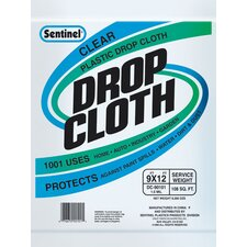 9' x 12' Sentinel® Clear Plastic Drop Cloths DC90101