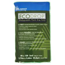 9' X 12' Eco Drop Biodegradable Plastic Drop Cloth 04401