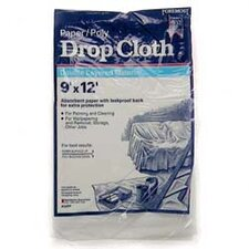 9' X 12' Paper/Poly Drop Cloth 02301