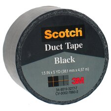 "1.5"" X 5 Yards Black Scotch® Duct Tape 1005-BLK-1P (Set of 6)"