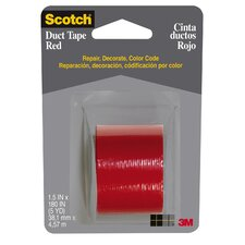 "1.5"" X 5 Yards Red Tape Cloth 1005-RED-1P (Set of 6)"