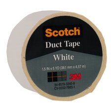 "1.5"" X 5 Yards White Scotch® Duct Tape 1005-WHT-1P (Set of 6)"