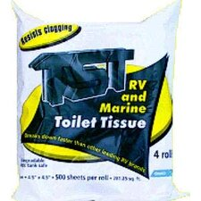 RV Soft-Touch 1-Ply Toilet Paper - 500 Sheets per Pack (Set of 4)