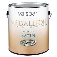 1 Quart Satin White Medallion Exterior Latex House Paint