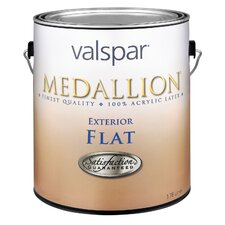 1 Quart Flat White Medallion Exterior Latex House Paint