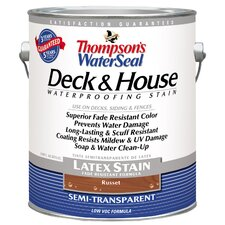 Thompson's® WaterSeal® Deck and House Russet Semi-Transparent Latex Stain