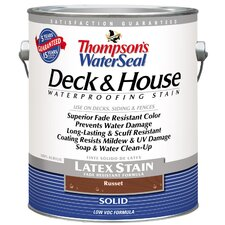 Thompson's® WaterSeal® Deck and House Russet Solid Latex Stain