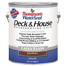 Thompson's® WaterSeal® Deck and House Sierra Brown Solid Latex Stain