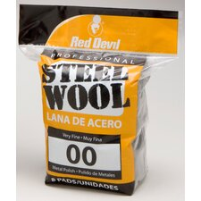 8 Pack #00 Steel Wool 0322