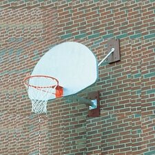 <strong>SportsPlay</strong> Wall Mounted Basketball Backstop w/ Over Hang