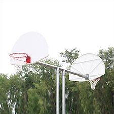 Aluminum Fan Double Basketball Backstop -