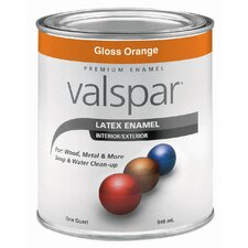 1 Quart Orange Gloss Latex Enamel 410-65018 QT