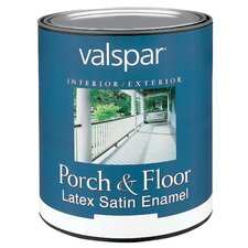 1 Quart White Porch & Floor Latex Satin Enamel 27-1500 QT