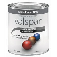 1 Quart Pewter Gray Gloss Latex Enamel 410-65039 QT