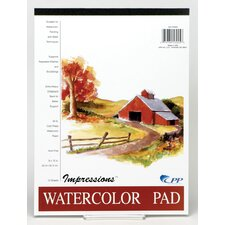 "9"" x 12"" Impressions Watercolor Pad (Set of 12)"