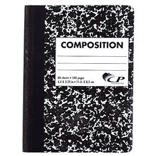 80 Sheet Mini Composition Book Assorted Colors (Set of 6)