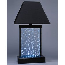 Water Panel Fountain Table Lamp