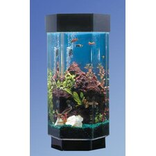 <strong>Midwest Tropical Fountain</strong> AquaScape 15 Gallon Hexagon Aquarium