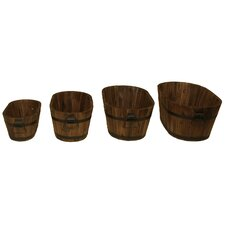 4 Piece Oval Planter Set