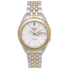 Women's Seiko 5 Stainless Steel Bracelet with Silver Dial Watch