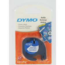 Pearl White Dymo LetraTag QX50 Tape (Set of 6)