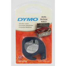 Silver Dymo Metallic LetraTag QX50 Tape (Set of 6)