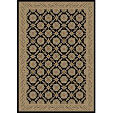 Imperial Black Charlemagne Aubusson Area Rug